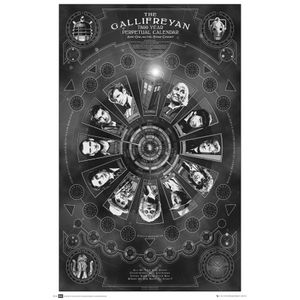 [Doctor Who: Poster: Gallifreyan Calendar (Product Image)]