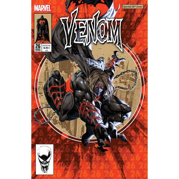 [The cover for Venom #26 (Forbidden Planet Exclusive Kael Ngu Variant)]