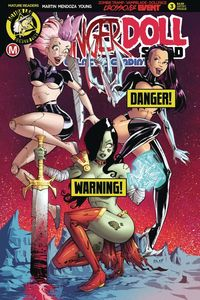 [Danger Doll Squad: Galactic Gladiators #3 (Cover D White Risque) (Product Image)]