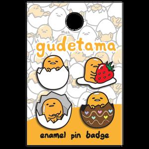 [Gudetama: Enamel Pin Badge Set (Product Image)]