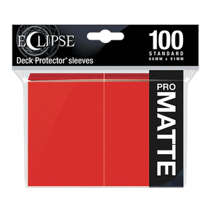 [Ultra Pro: Eclipse Matte: Apple Red: Standard Sleeves (100) (Product Image)]