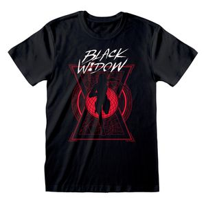 [Black Widow: T-Shirt: Text & Silhouette (Product Image)]