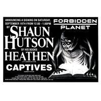 [Shaun Hutson signing Heathen (Product Image)]