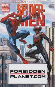 [Spider-Men #1 (Forbidden Planet Variant) (Product Image)]
