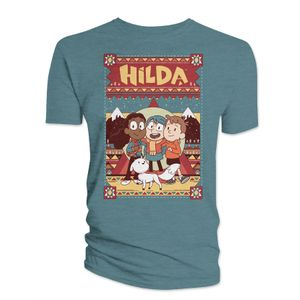 [Hilda: T-Shirt: Hilda & Friends (Indigo Blue) (Product Image)]